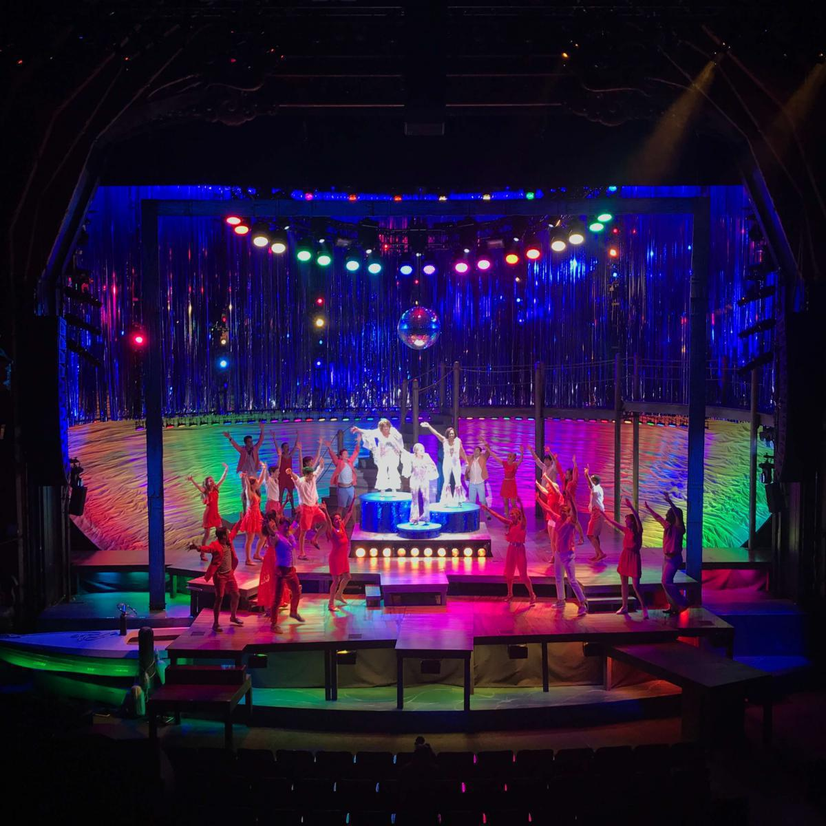 Photo 13 in 'Mamma Mia' gallery showcasing lighting design by Mike Baldassari of Mike-O-Matic Industries LLC