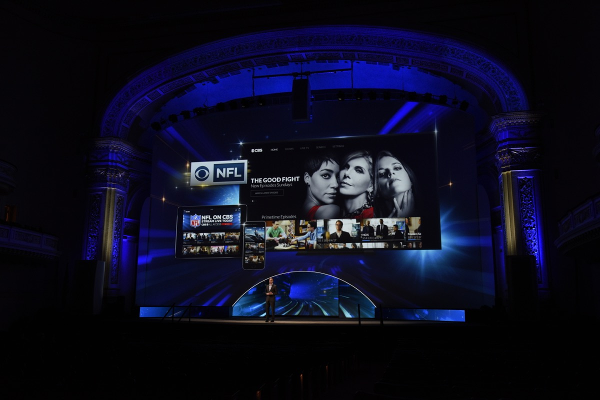 Photo 5 in '2017 CBS Upfront' gallery showcasing lighting design by Mike Baldassari of Mike-O-Matic Industries LLC