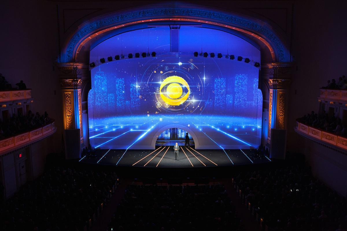 Photo 3 in '2015 CBS Upfront' gallery showcasing lighting design by Mike Baldassari of Mike-O-Matic Industries LLC
