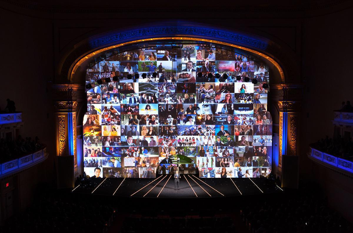 Photo 4 in '2015 CBS Upfront' gallery showcasing lighting design by Mike Baldassari of Mike-O-Matic Industries LLC