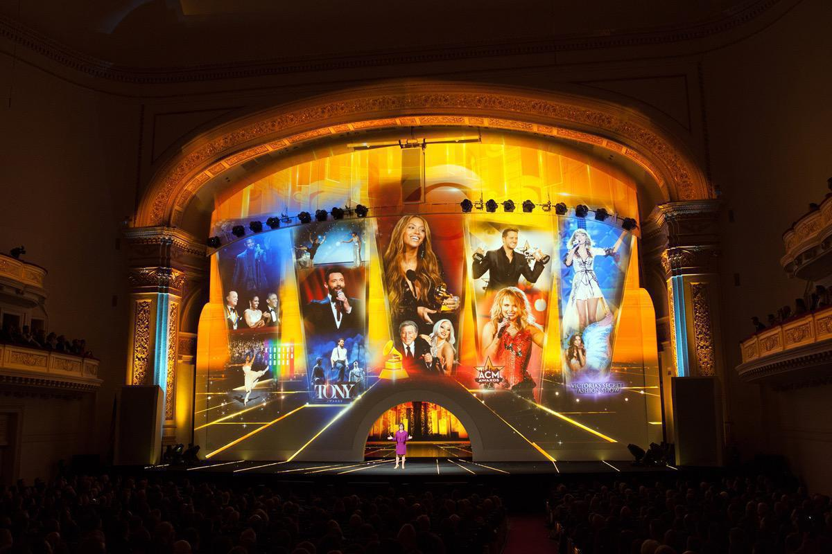Photo 11 in '2015 CBS Upfront' gallery showcasing lighting design by Mike Baldassari of Mike-O-Matic Industries LLC