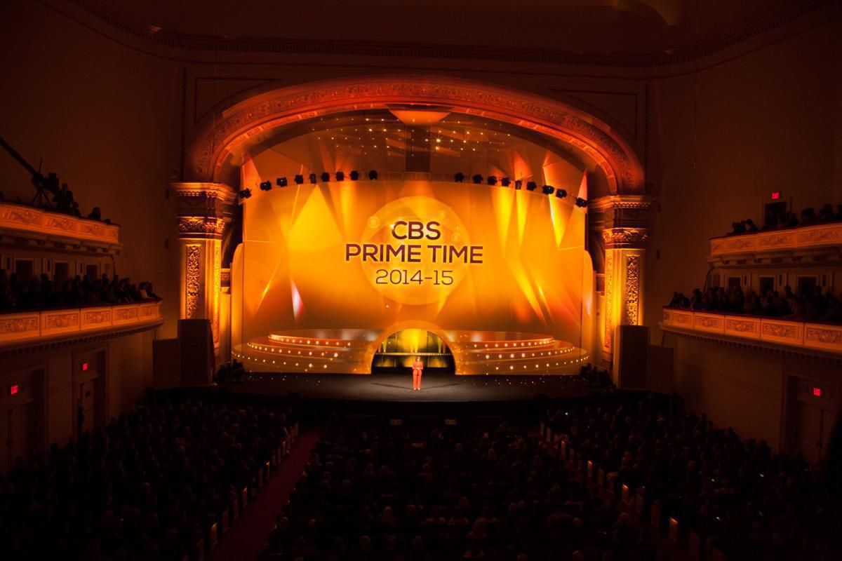 Photo 12 in '2014 CBS Upfront' gallery showcasing lighting design by Mike Baldassari of Mike-O-Matic Industries LLC