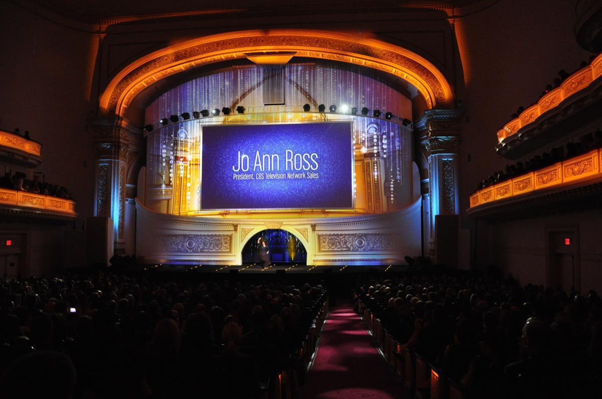 Photo 4 in '2013 CBS Upfront' gallery showcasing lighting design by Mike Baldassari of Mike-O-Matic Industries LLC