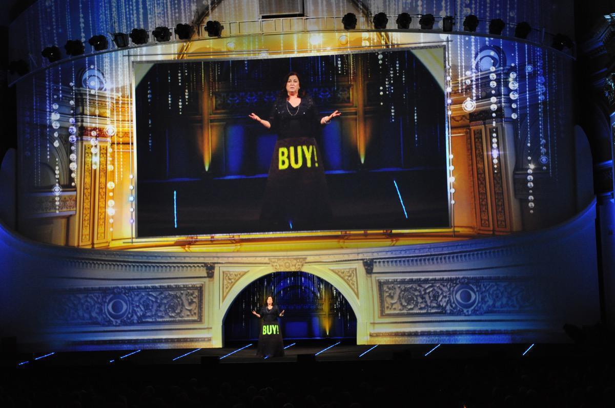 Photo 5 in '2013 CBS Upfront' gallery showcasing lighting design by Mike Baldassari of Mike-O-Matic Industries LLC