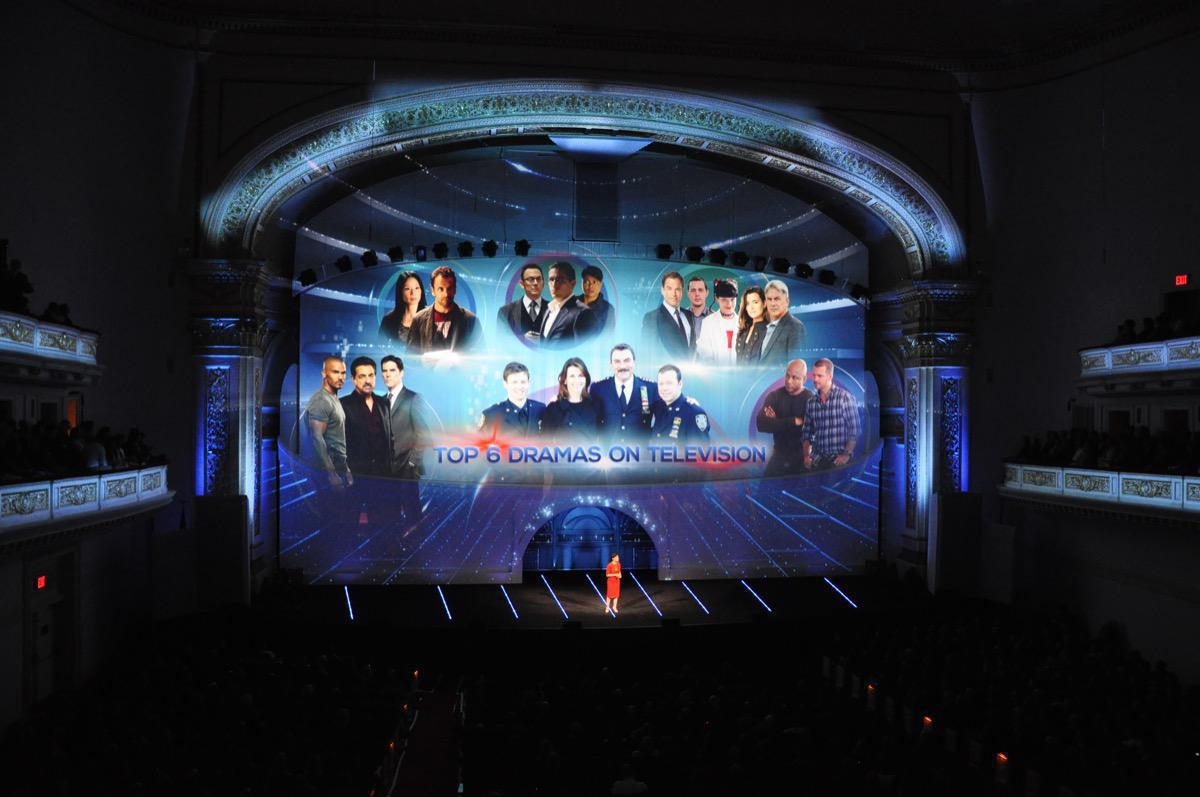 Photo 11 in '2013 CBS Upfront' gallery showcasing lighting design by Mike Baldassari of Mike-O-Matic Industries LLC
