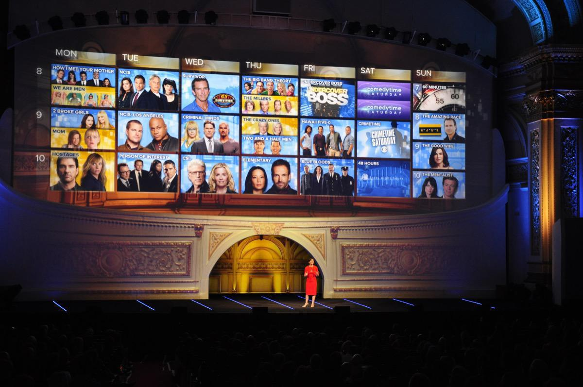 Photo 14 in '2013 CBS Upfront' gallery showcasing lighting design by Mike Baldassari of Mike-O-Matic Industries LLC