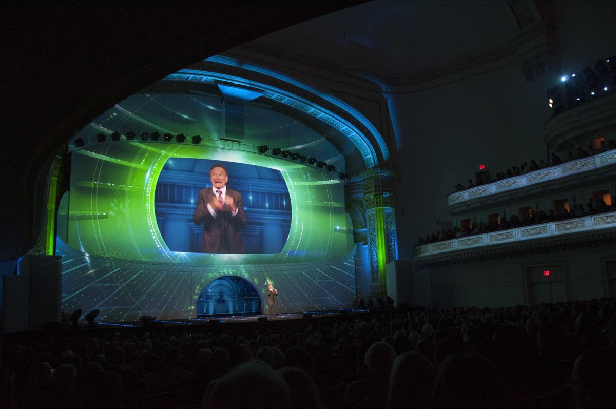 Photo 15 in '2013 CBS Upfront' gallery showcasing lighting design by Mike Baldassari of Mike-O-Matic Industries LLC