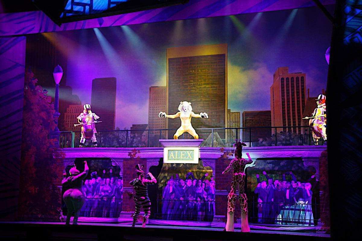 Photo 2 in 'Madagascar Live!' gallery showcasing lighting design by Mike Baldassari of Mike-O-Matic Industries LLC
