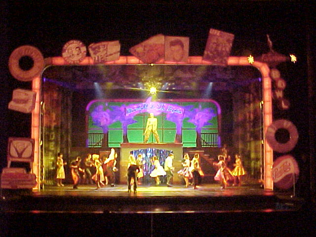 Photo 4 in 'Grease' gallery showcasing lighting design by Mike Baldassari of Mike-O-Matic Industries LLC