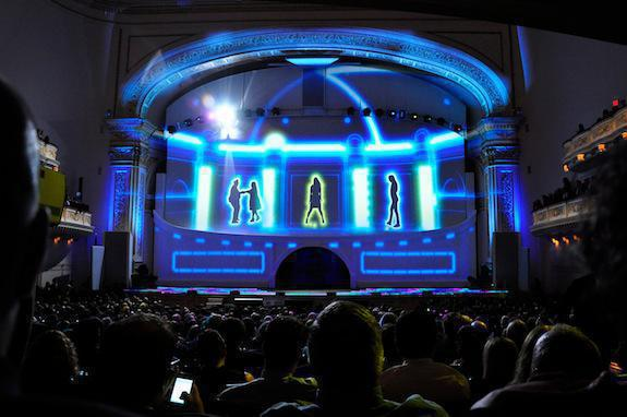 Photo 10 in '2012 CBS Upfront' gallery showcasing lighting design by Mike Baldassari of Mike-O-Matic Industries LLC