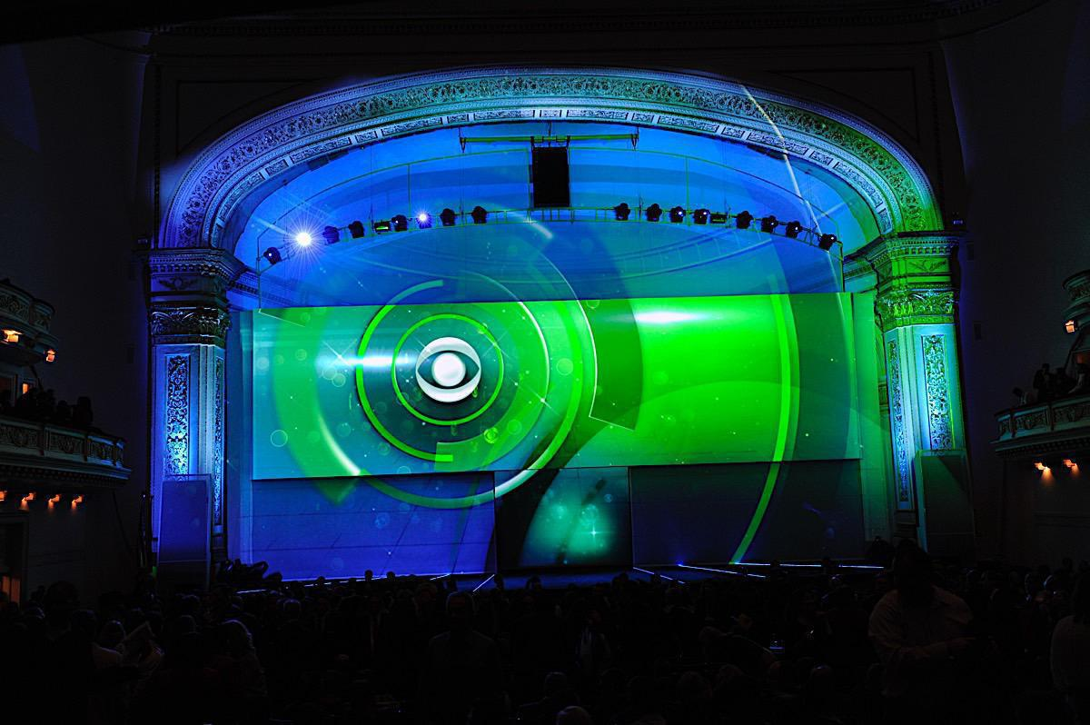 Photo 20 in '2011 CBS Upfront' gallery showcasing lighting design by Mike Baldassari of Mike-O-Matic Industries LLC