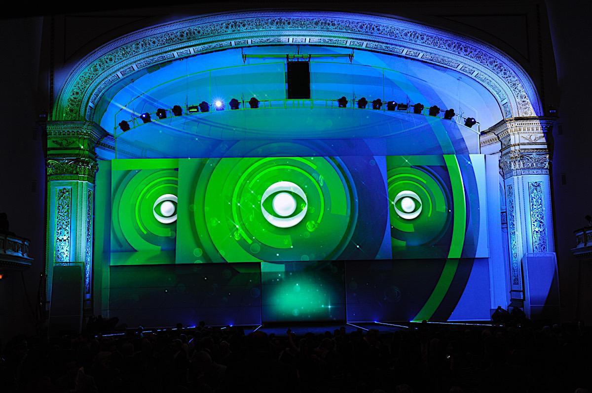 Photo 15 in '2011 CBS Upfront' gallery showcasing lighting design by Mike Baldassari of Mike-O-Matic Industries LLC