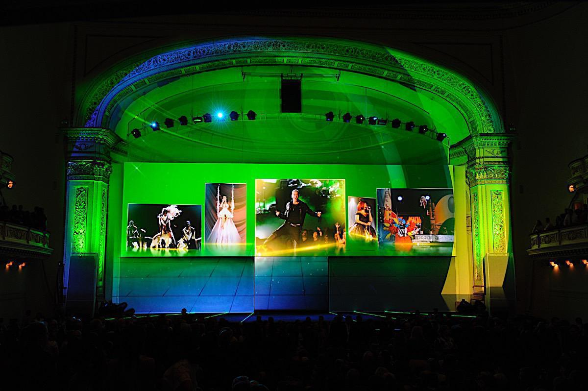 Photo 10 in '2011 CBS Upfront' gallery showcasing lighting design by Mike Baldassari of Mike-O-Matic Industries LLC