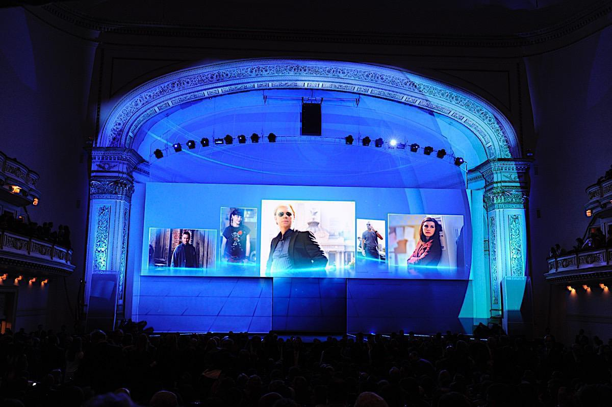 Photo 8 in '2011 CBS Upfront' gallery showcasing lighting design by Mike Baldassari of Mike-O-Matic Industries LLC