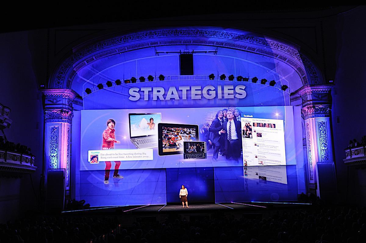 Photo 6 in '2011 CBS Upfront' gallery showcasing lighting design by Mike Baldassari of Mike-O-Matic Industries LLC