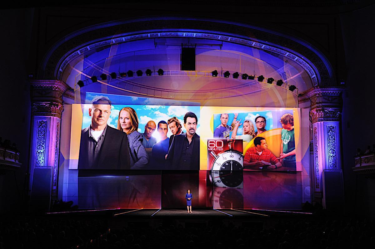 Photo 12 in '2011 CBS Upfront' gallery showcasing lighting design by Mike Baldassari of Mike-O-Matic Industries LLC