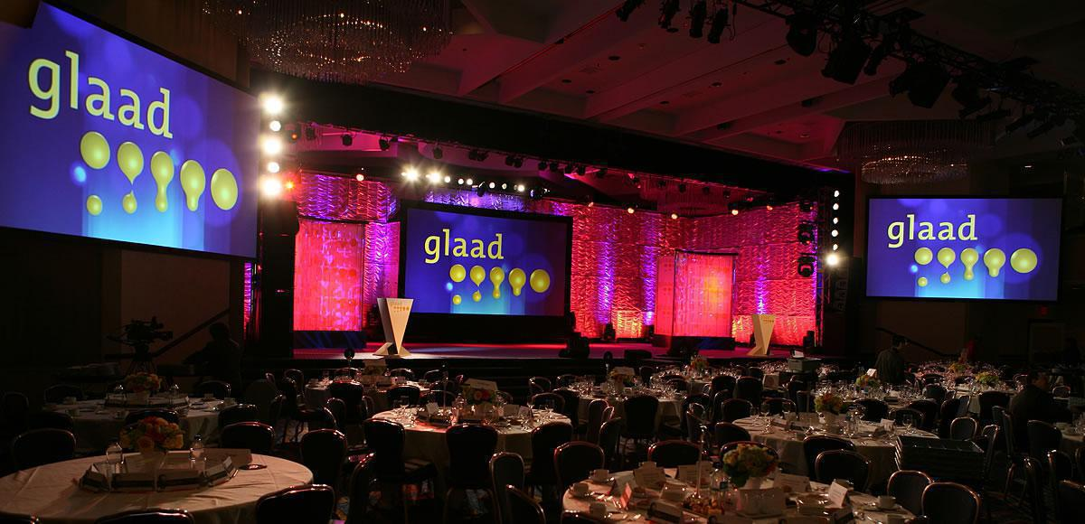 Photo 13 in '20th Annual GLAAD Media Awards' gallery showcasing lighting design by Mike Baldassari of Mike-O-Matic Industries LLC