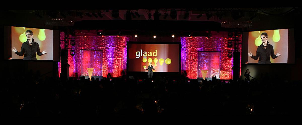 Photo 8 in '20th Annual GLAAD Media Awards' gallery showcasing lighting design by Mike Baldassari of Mike-O-Matic Industries LLC