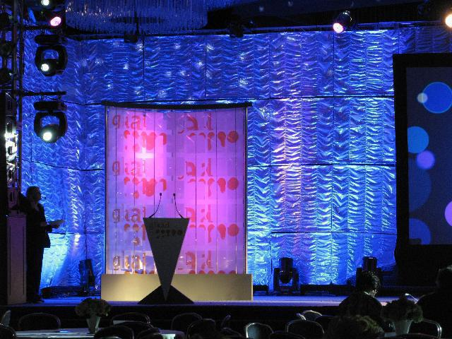 Photo 3 in '20th Annual GLAAD Media Awards' gallery showcasing lighting design by Mike Baldassari of Mike-O-Matic Industries LLC