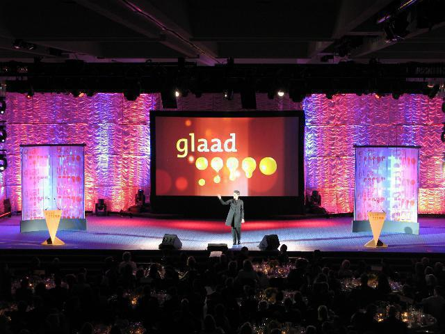 Photo 16 in '20th Annual GLAAD Media Awards' gallery showcasing lighting design by Mike Baldassari of Mike-O-Matic Industries LLC