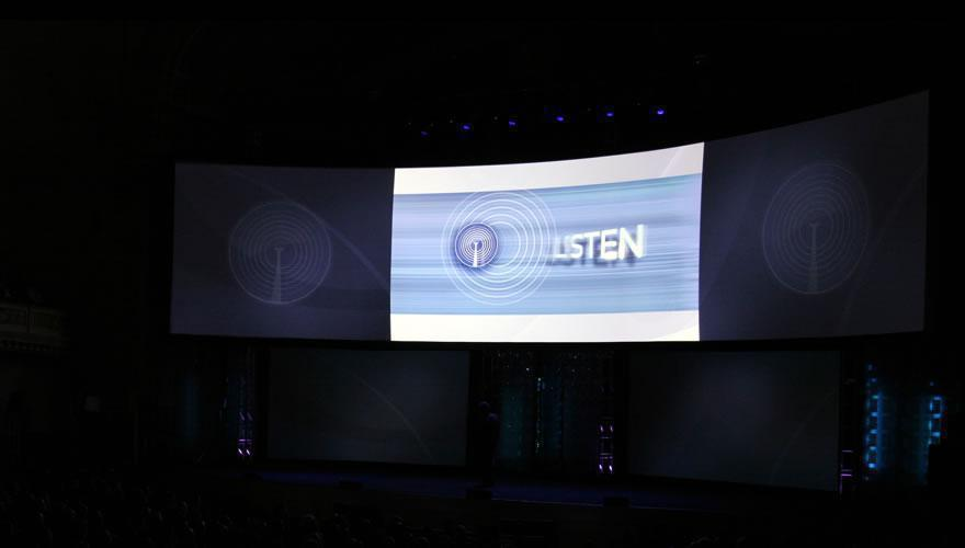 Photo 22 in '2008 CBS Upfront' gallery showcasing lighting design by Mike Baldassari of Mike-O-Matic Industries LLC