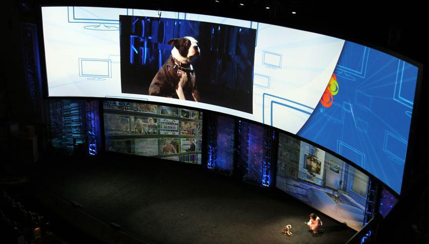 Photo 31 in '2008 CBS Upfront' gallery showcasing lighting design by Mike Baldassari of Mike-O-Matic Industries LLC