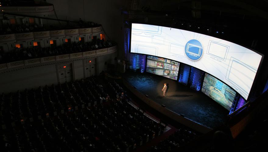 Photo 7 in '2008 CBS Upfront' gallery showcasing lighting design by Mike Baldassari of Mike-O-Matic Industries LLC