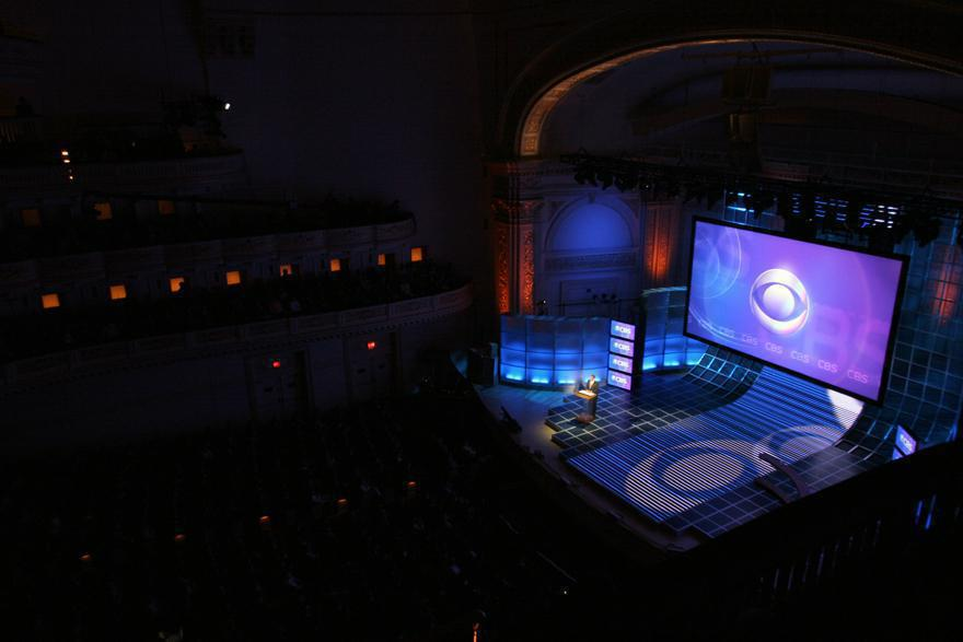 Photo 18 in '2007 CBS Upfront' gallery showcasing lighting design by Mike Baldassari of Mike-O-Matic Industries LLC