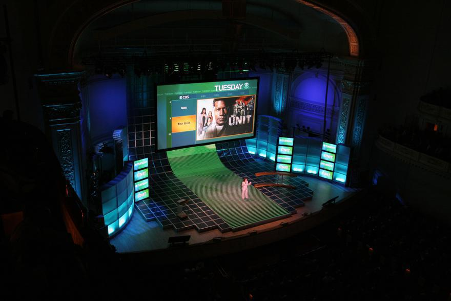 Photo 4 in '2007 CBS Upfront' gallery showcasing lighting design by Mike Baldassari of Mike-O-Matic Industries LLC