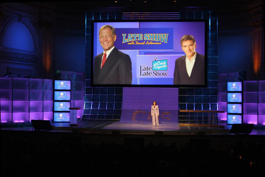 Photo 6 in '2007 CBS Upfront' gallery showcasing lighting design by Mike Baldassari of Mike-O-Matic Industries LLC