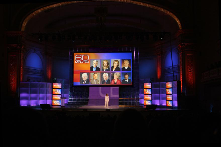Photo 19 in '2007 CBS Upfront' gallery showcasing lighting design by Mike Baldassari of Mike-O-Matic Industries LLC